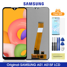 5.7 original original original a015 lcd para samsung galaxy a01 lcd screen display toque digitador assembléia para samsung a015 a015f a015g a015ds