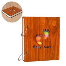 Детский семейный альбом для записи деревянный детский памятный альбом