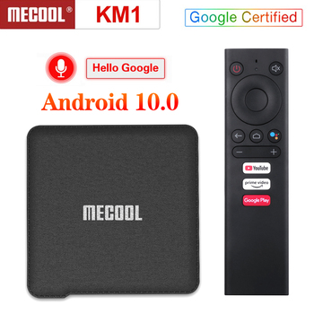 Mecool KM1 ATV Google Certified TV Box Android 10 Android 9.0 Amlogic S905X3 4GB 64GB Androidtv WiFi Youtube 4K Set Top Box
