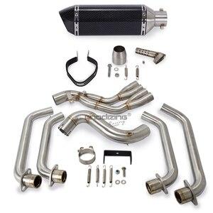Image 5 - אופנוע מלא פליטה מערכת להחליק על כותרת קדמי צינור צינור עבור הונדה CBR650F CB650F CB 650 F CBR 650F 2014  2019 עם פליטה