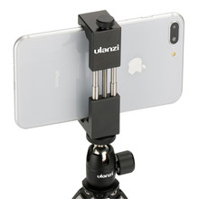 In Stock in Russia ULANZI Universal Phone Mount Holder Stand Clip Tripod Mount Adapter for iPhone Android Smartphone