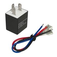 12V & 24V 3 Pin Einstellbare Elektronische Blink Relais w/Kabel für Motorrad Motorrad LED Blinker glühbirnen