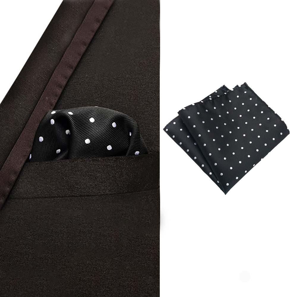 25*25cm Men Pocket Towel Squares Dot Pattern Handkerchief Fashion For Men Business Suit Accessories Hanky