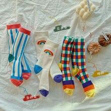 3 пары детских Хлопковых Носков радужные носки с принтом для