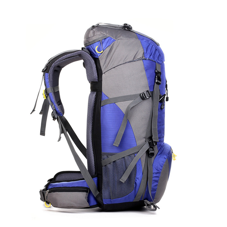 Mountaineering Bag Shoulder Men's Travel Waterproof Ultra Large Capacity Hiking Travel Outdoor Backpack Women's 45 + 5l Send Rai