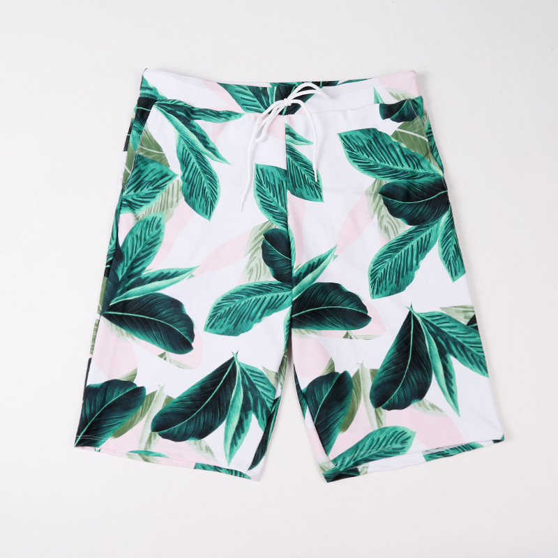 2018 New Style Couples Bathing Suit Men's Swimming Trunks Short Medium-length Fashion Sexy Hot Springs Cool Plus-sized Beach Sho