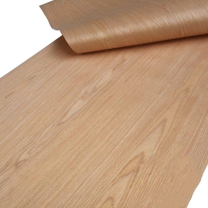 Artificial Veneer Technical Veneer Sliced Wood Engineering Veneer E.V. 60cm X 2.5m Red Oak C/C