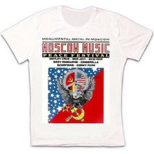 Moscow Music Peace Festival Ussr Poster Retro Vintage Hipster Unisex T Shirt 977 High Quality Tee Shirt(China)