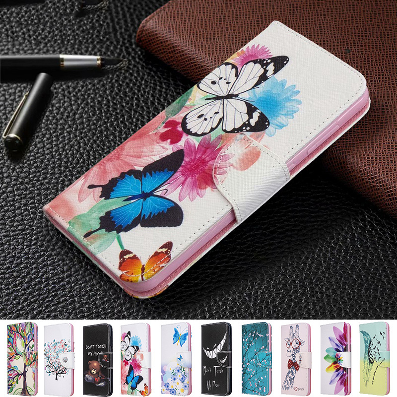 Cartoon Leather Flip <font><b>Case</b></font> For <font><b>Huawei</b></font> <font><b>Mate</b></font> 9 <font><b>10</b></font> 20 30 P8 P9 P10 P20 P30 Pro <font><b>lite</b></font> P Smart Plus 2019 <font><b>Cover</b></font> P30Pro Wallet Phone Bags image
