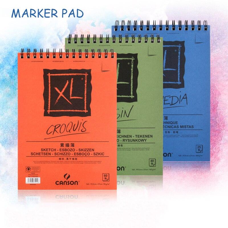 A3 A4 Marker Pad Professional No Penetration Paper Drawing Album Sketchbook For Student Artists Art Supplies