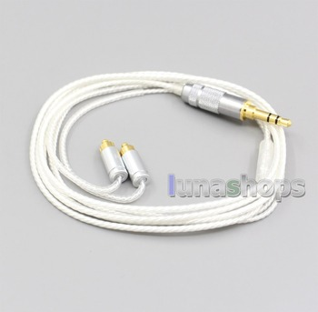 LN006636 4.4mm 2.5mm 3.5mm XLR Hi-Res Silver Plated 7N OCC Earphone Cable For Dunu dn-2002
