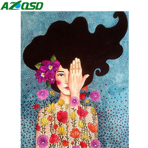 AZQSD Paint By Numbers For Adults Portrait DIY Unframe Coloring By Numbers Girls Picture For Living Room Home Decoration