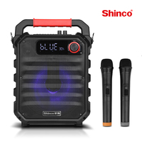 Shinco Karaoke Bluetooth Speaker Portable PA Speaker System with Wireless Microphone Audio Home Party Subwoofer Outdoor Speaker