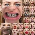 Новинка! 1 шт. маска для Хэллоуина, забавные и страшные латексные маски клоуна с половинчатым лицом для косплея, вечерние товары для украшени...