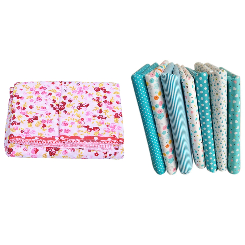 14 Pcs 50cmx50cm Cotton Small Floral Plain Printed Cotton Fabric For Cloth Sewing Patchwork Quilting Handmade Diy Textiles (7 Pc