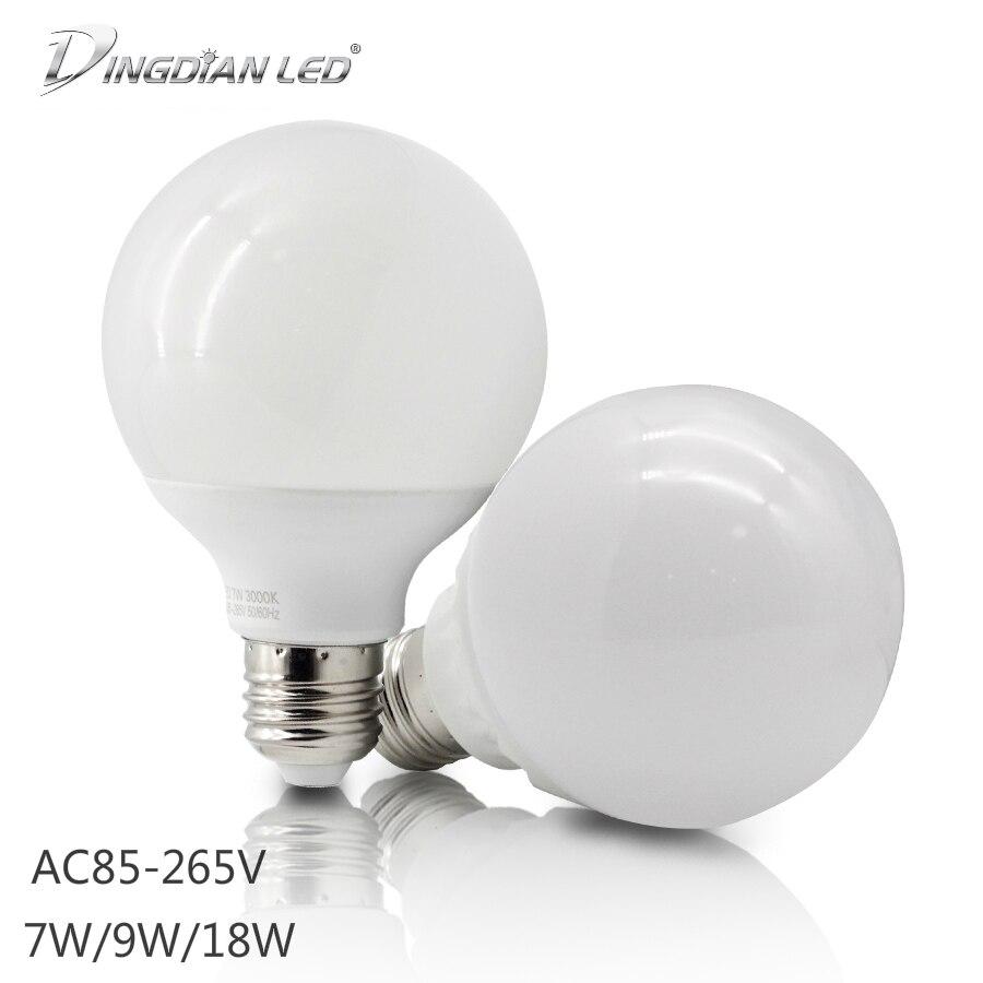LED Bulbs Tube E27 110V 220V Super Bright Dragon Ball Light 7W 9W 18W High Power White Warm White For Home Living Lighting