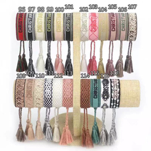 Adjustable Bracelet Jewelry Tassel Embroidery-Color Woven Handmade Lover Gift Women's