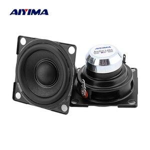 AIYIMA 2 Pcs 2 Inch Fever Full Range Mini Speaker Driver 6 Ohm 15 W Sound Amplifier Speaker Column DIY Home Loudspeaker Units