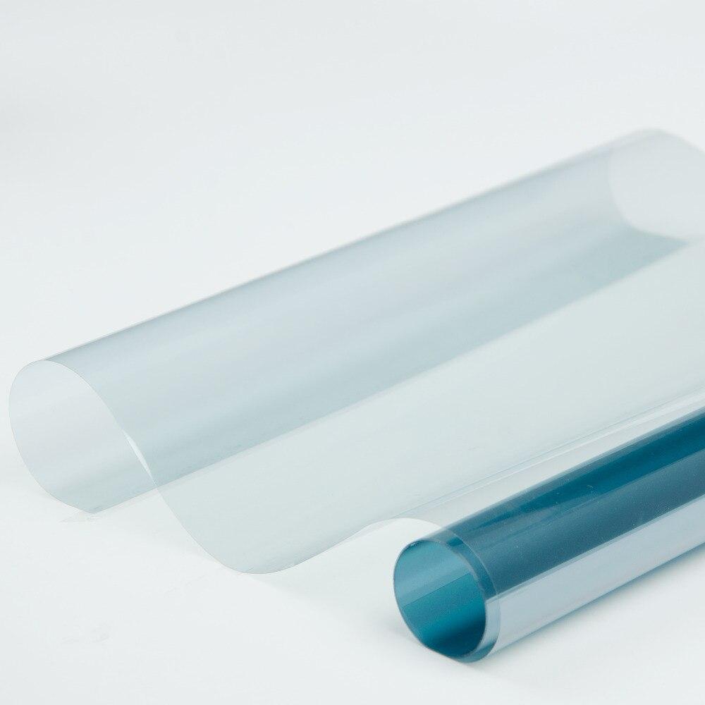 80% VLT bleu clair Auto voiture Nano céramique teinte Film pare-soleil Anti UV résistant à la chaleur teinte maison bureau Protection solaire teinte vinyle