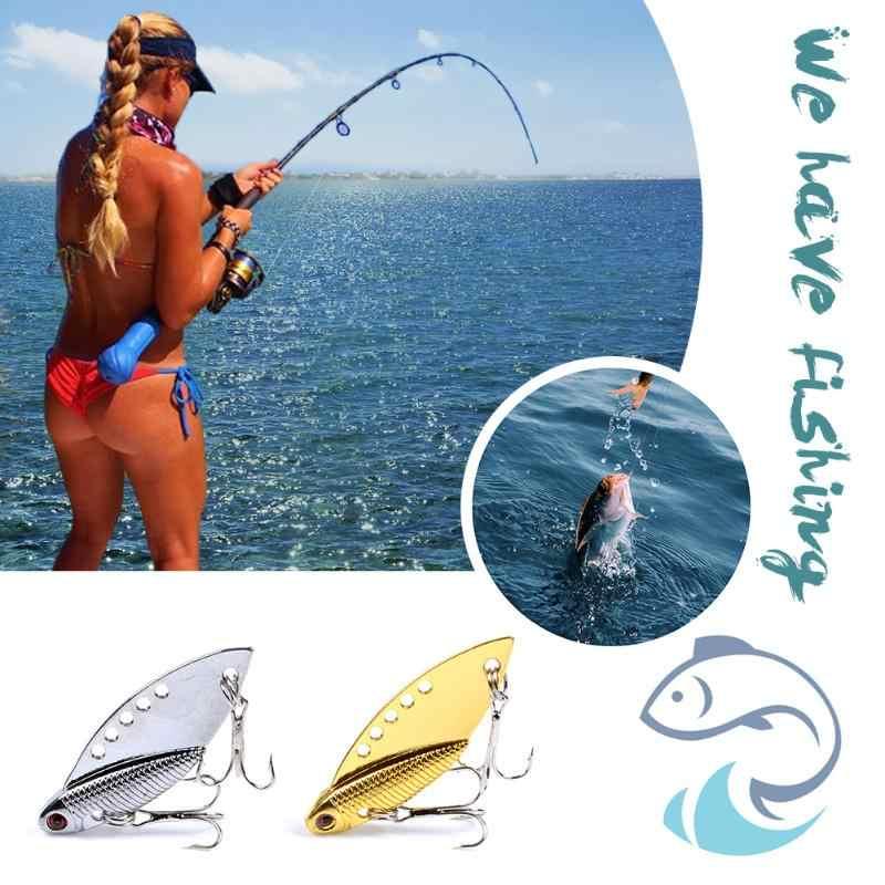 1 pçs metal vib iscas 5cm 10g vibrações vívidas metal vib iscas vibração colher longo tiro isca de pesca artificial duro