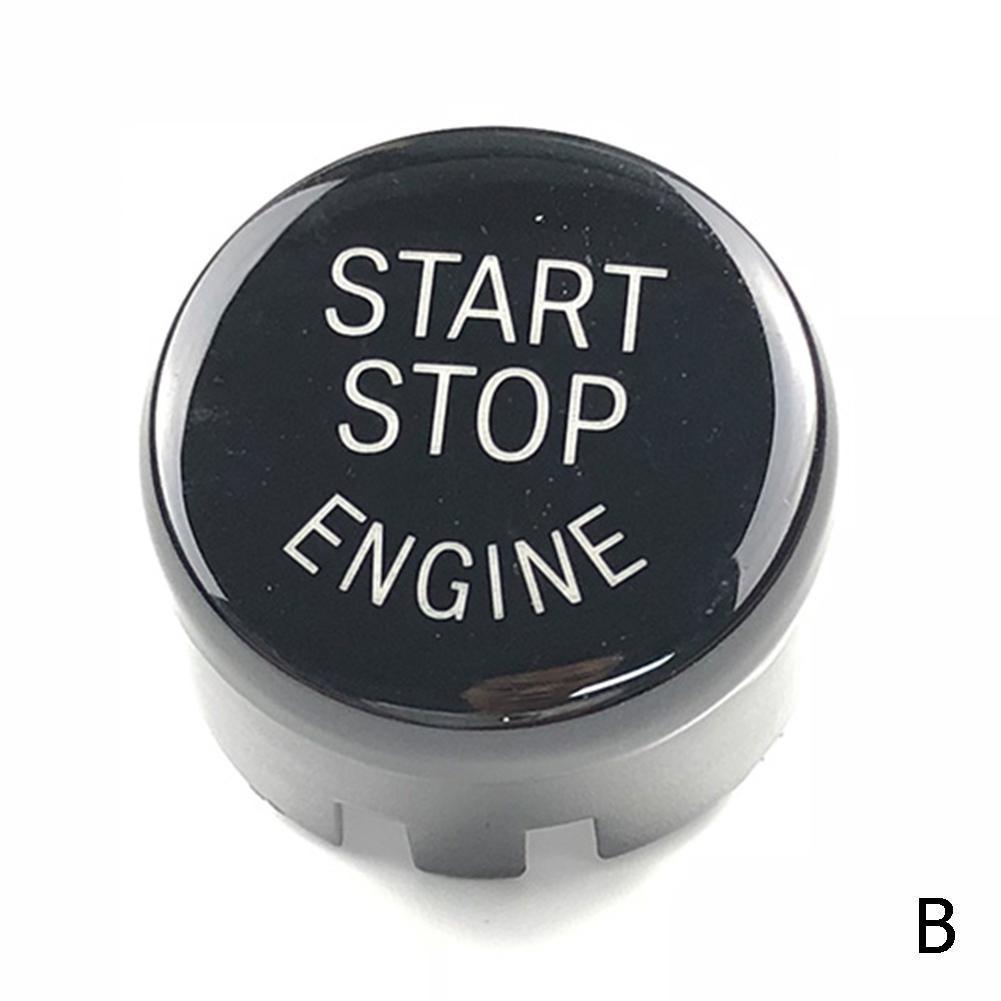 Botão da capa do escudo keyless f10 f34 f48 x5 f25 start x4 cas e9c8 botões de interruptor de pressão do motor de parada partida do carro guarnição para bmw f30 x3 x1