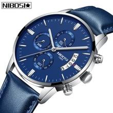 2019 Relogio Masculino NIBOSI Mens New Watches Waterproof Sport Auto-Date Quartz Men Watch Chronograph Luxury Business