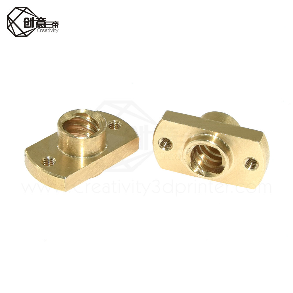 T8 Nut H Flange Copper Nut For T8 Lead Screw Trapezoidal Screw 3D Printer Parts