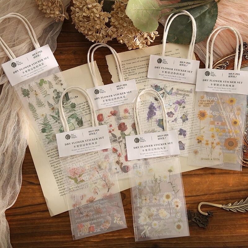 3 листа зеленый растения и цветы Стиль наклейки для этикеток дневник канцелярские альбом журналы планирования