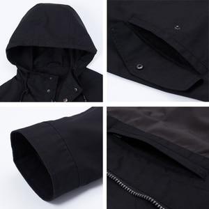 Image 5 - ICEbear 2020 גברים של קצר מעיל רוח אביב אופנתי תעלת מעיל עם ברדס גבוהה איכות גברים של מותג בגדים MWF20701D