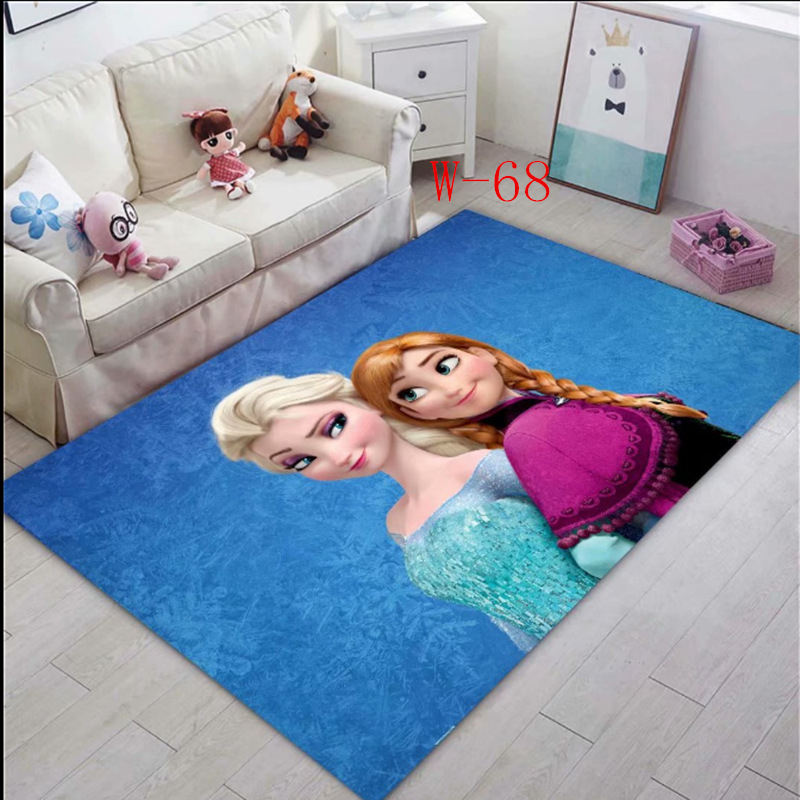 Frozen Anna Elsa Mat Bathroom Child Boy Girl Carpet Hallway Doormat Anti - Slip Bathroom Carpet Absorb Water Kitchen Mat/Rug
