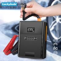 4 In 1 Portable Car Jump Starter 12000mAh Power Bank 12V batteria di emergenza Booster automatico dispositivo di avviamento pompa di gonfiaggio pneumatici