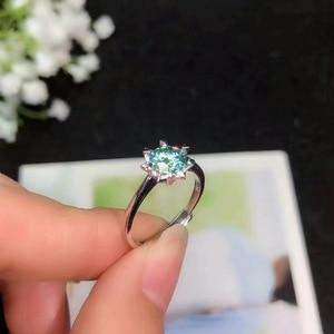 Image 4 - Boeycjr 925 실버 1ct/2ct 블루 moissanite vvs 약혼 웨딩 다이아몬드 반지 여성을위한 국가 인증서