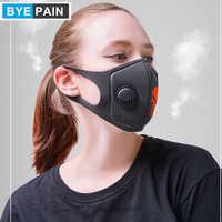 BYEPAIN Mund Maske 3D Cropped Atmungs Ventil Schädel Mund Maske Atemwege Staub Maske Verbesserte Version Männer & Frauen
