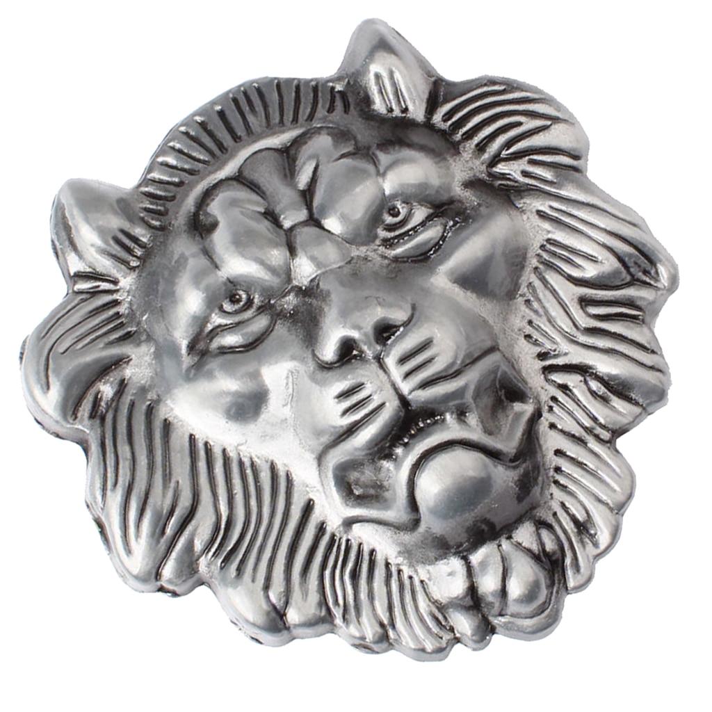 Retro Vintage Western 3D Lion Head Zinc Alloy Mens Belt Buckle Suitable For Belt Width 3.6-3.9cm Novelty Man Gift