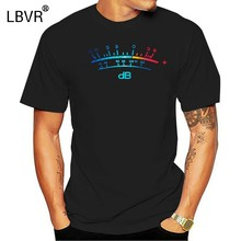 Summer Short Sleeves Fashiont Men T-Shirt Summer Style DB Meter II Decibel Music Bass Retro Radio Cassette Tape Record T shirt(China)