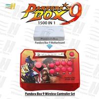 Pandora Box 9 wireless controller set 1500 in 1 arcade game joystick button HDMI VGA USB connect tv pc ps3 plug and play 5s 6s 7