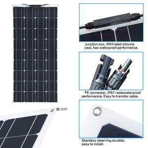 Image 4 - 2 個 4 個 3 個ソーラーパネル 100 ワット単結晶太陽電池のための柔軟な車/ヨット/汽船 12V 24 ボルト 100 ワット太陽電池
