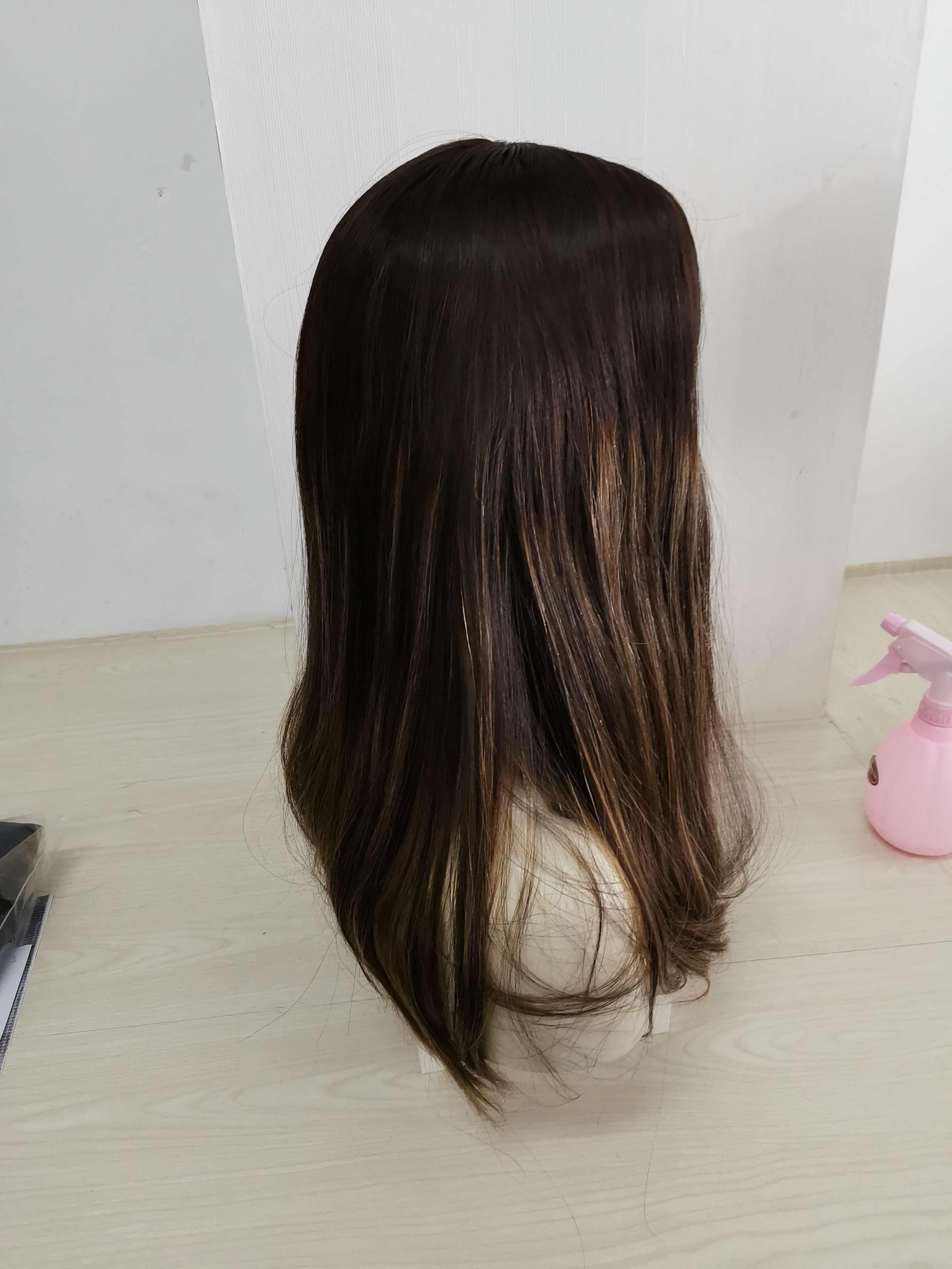 Alishevy silk top naturalne włosy europejskiej peruki 20 cal nie kolor warstwy 4 z pięknym HL żydowska peruka koszerna peruka najlepsze Sheitels
