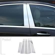 6 قطعة لمرسيدس بنز W221 S فئة S300L S350L S400L S320L S500 S600L 2006-2013 اكسسوارات نافذة صب تقليم سبائك الألومنيوم