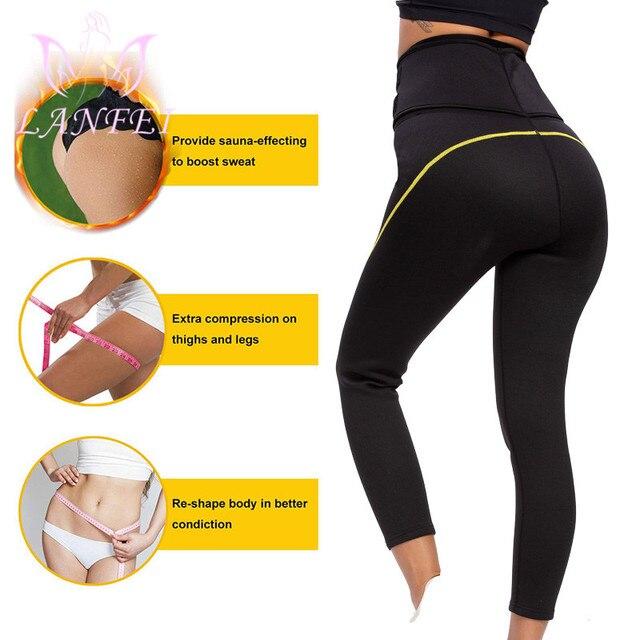 LANFEI Neoprene Waist Trainer Belt Women High Waist Legging Shaper Pants Sauna Slimming Sweat  Gym Capris Hot Thermo Sweat Pant 2