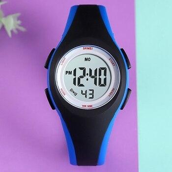IG-SKMEI Children LCD Electronic Digital Watch Sport Watches Stop Watch Luminous 5Bar Waterproof Kids Wristwatches