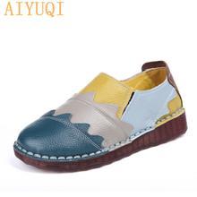 Женская обувь из натуральной кожи на плоской подошве новинка