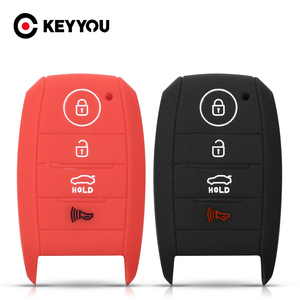 Силиконовый чехол KEYYOU для ключей 4BT для Kia Sorento Optima Forte Koup Soul Niro K3 K3S KX3 K4 KX5 K5 Soul RIO Ceed Sportage