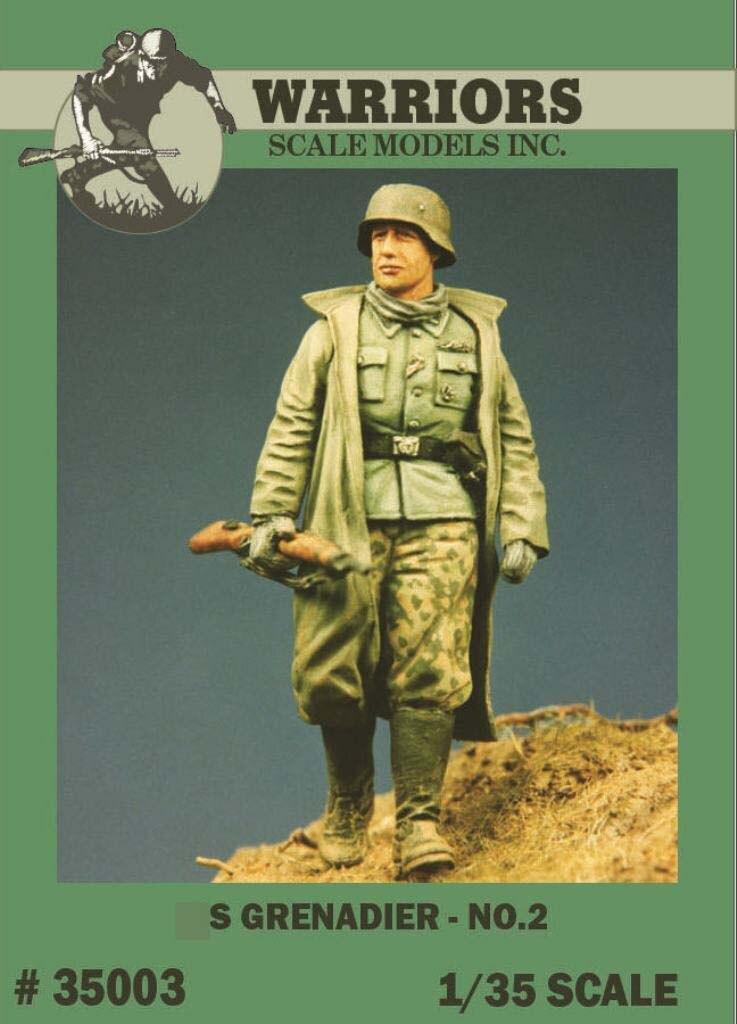 1/35 WWII German Grenadier No.2 Resin Figure 1pc Warriors #35003