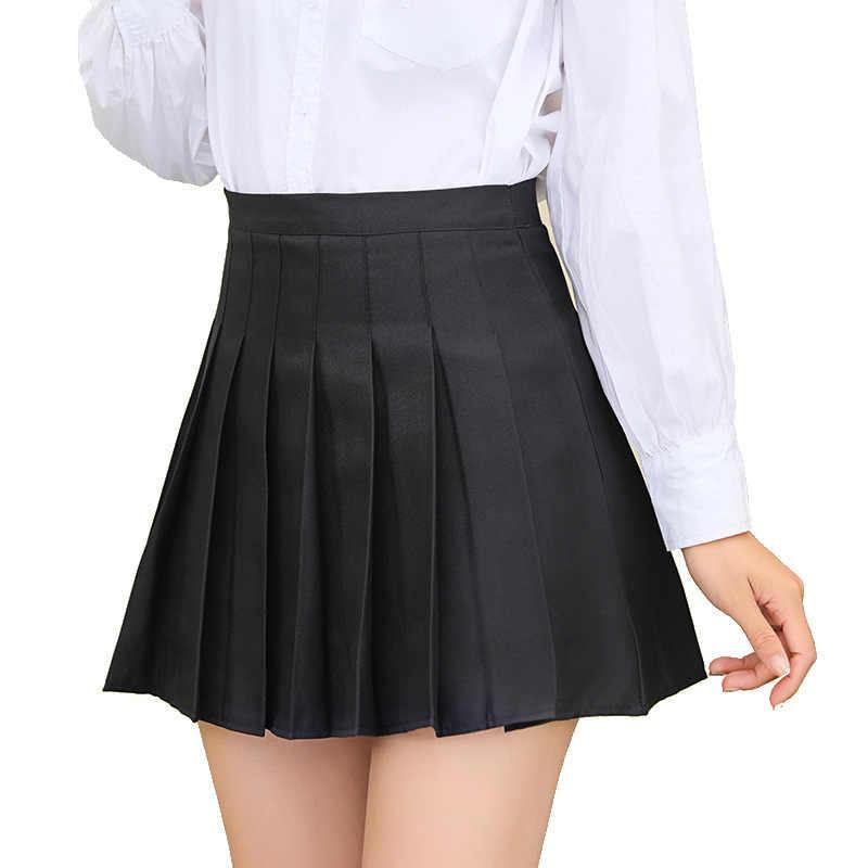 Spódnica 2020 nowa damska czarna koreańska wersja spódnicy damskiej jesienno-zimowej letniej spódnica z wysokim stanem