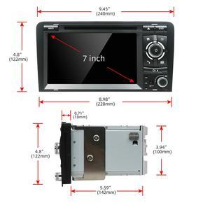 Image 5 - Bosion الروبوت 10.0 مشغل أسطوانات للسيارة GPS لأودي A3 8P 2003 2012 S3 2006 2012 RS3 سبورتباك 2011 مشغل وسائط متعددة ستيريو راديو