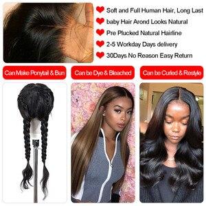 Image 2 - 13x4 13x6 koronki przodu włosów ludzkich peruk brazylijski prosto 4x4 5x5 6x6 zamknięcie peruka dla kobiet długi 28 30 Cal wstępnie oskubane peruka Bling