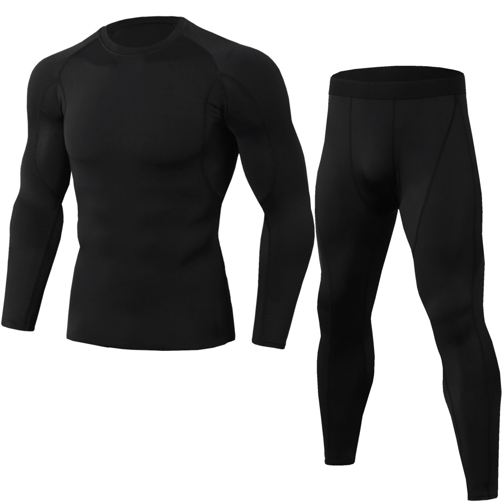 2020 Men's New Winter Warm Thermal Underwear Set Casual Fast Dry Shirt Camping Hiking Mountaineering Skiing Men's Suit