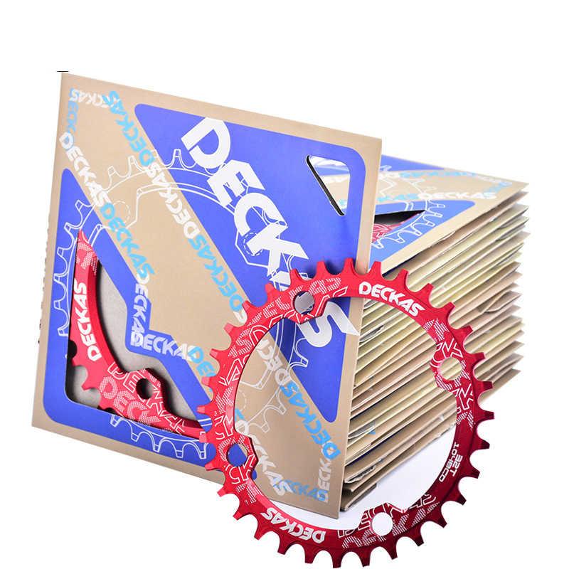 Deckas סגלגל צר רחב שרשרת טבעת MTB אופני הרי אופניים 96 BCD 32 T/34 T/36 T /38T crankset צלחת שן חלקי אופני אביזרים