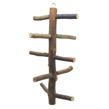 Bird Perch Cage Parrot Stairs Climbing Standing Swing Pet-Play-Toy Wooden Branched Non-Toxic